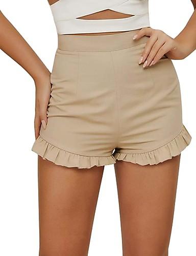 Diligente Per Donna Attivo - Boho Pantaloncini Pantaloni - Tinta Unita Cachi #07318262 Sapore Puro E Delicato