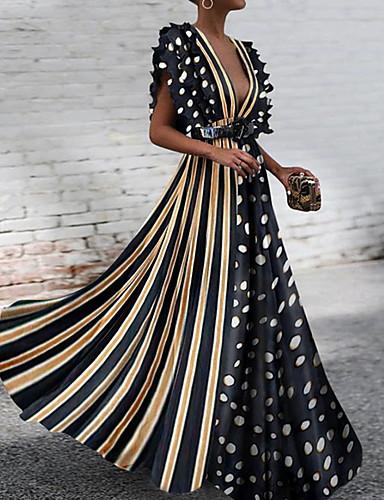 3c497f75673e Χαμηλού Κόστους Γυναικεία Φορέματα-Γυναικεία Βασικό Swing Φόρεμα - Πουά