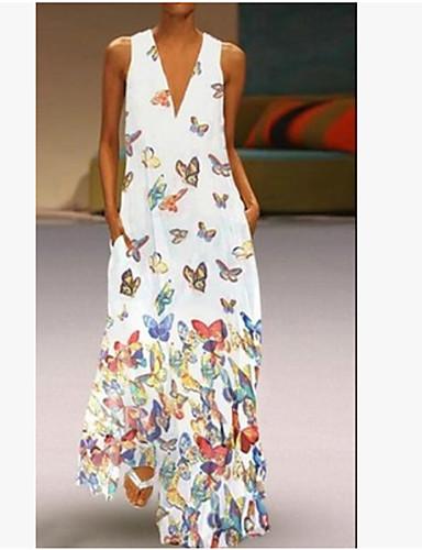 01470dd33 abordables Vestidos de Mujer-Mujer Tallas Grandes Playa Boho Delgado Línea  A Vestido Animal Maxi