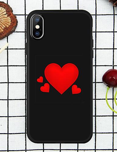 מגן עבור Apple iPhone XS / iPhone XR / iPhone XS Max תבנית כיסוי אחורי לב רך TPU