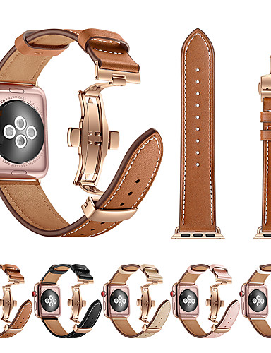 smartwatch הלהקה עבור סדרת אפל לצפות 4/3/2/1 אפל פרפר אבזם / עור לולאה עור אמיתי / רצועת נירוסטה רצועת היד