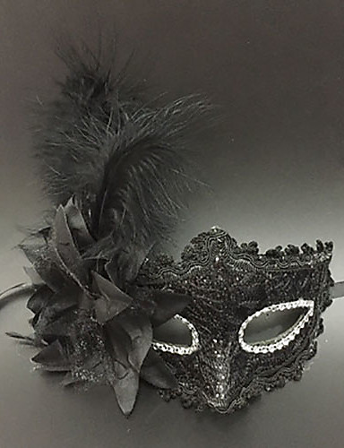 fea74c20d5a32 ... Mask / Venetian Mask / Feather Mask Adults' Vintage Women's Gray  Plastics / Feather Party Cosplay Accessories Halloween / Carnival / Masquerade  Costumes ...