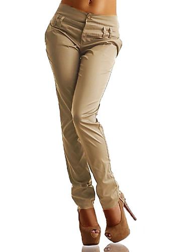 abordables Pantalons Femme-Femme Grandes Tailles Sarouel / Chino Pantalon - Couleur Pleine Taille haute Noir Marine Kaki XXXL XXXXL XXXXXL