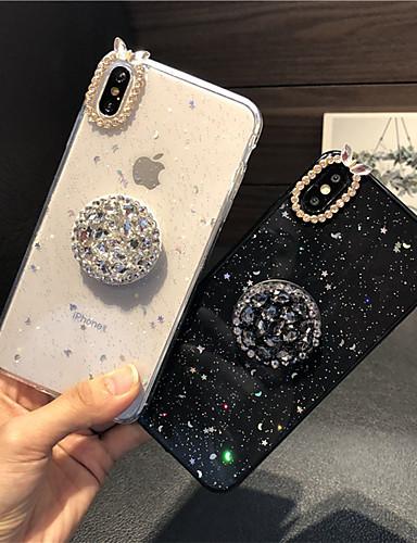 מארז iPhone 7 פלוס / iPhone 8 פלוס ברק זוהר / שקוף בחזרה לכסות נצנוץ ברק / סקסי ליידי רך סיליקה עבור iPhone 7 פלוס / iPhone 8 פלוס