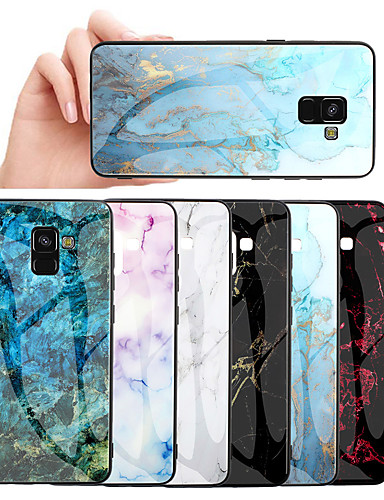מגן עבור Samsung Galaxy Galaxy M10 (2019) / Galaxy M20(2019) / Galaxy M30(2019) תבנית כיסוי אחורי שיש קשיח זכוכית משוריינת