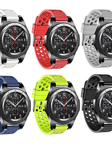 צפו בנד ל Gear Sport / Gear S2 Classic / Samsung Galaxy Watch 42 Samsung Galaxy רצועת ספורט סיליקוןריצה רצועת יד לספורט
