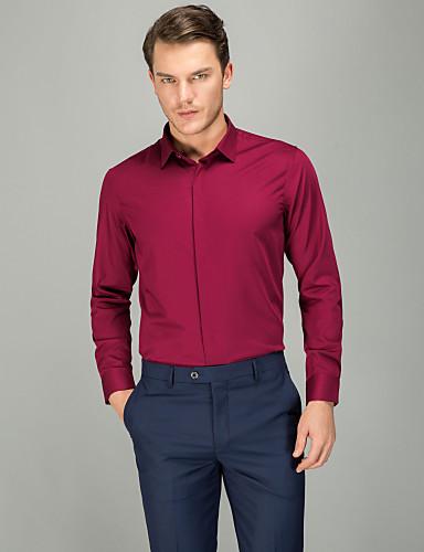 אחיד עסקים חולצה - בגדי ריקוד גברים פוקסיה