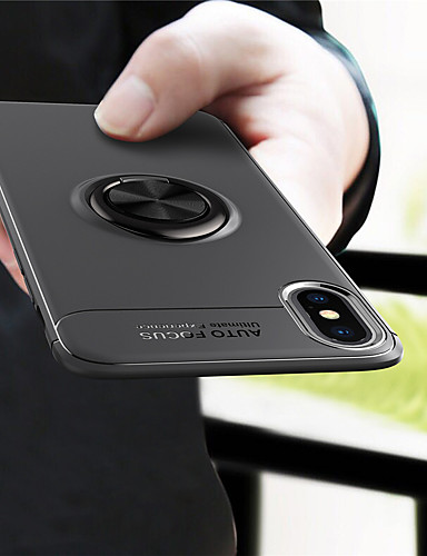 מארז iPhone xr / iPhone xs מקס מחזיק טבעת אחורית כיסוי מוצק צבע רך tpu עבור iPhone 7 / iPhone 7 פלוס / iPhone 8