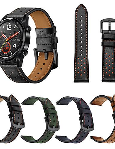 צפו בנד ל Huawei שעונים GT / Watch 2 Pro Huawei רצועת ספורט עור אמיתי רצועת יד לספורט