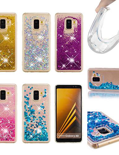 מגן עבור Samsung Galaxy Galaxy A7(2018) / A5 (2017) / A8 2018 נוזל זורם / זוהר ונוצץ כיסוי אחורי זוהר ונוצץ רך TPU
