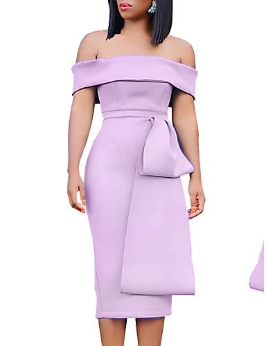זול שמלות נשים-סירה מתחת לכתפיים מידי שמלה צינור בגדי ריקוד נשים