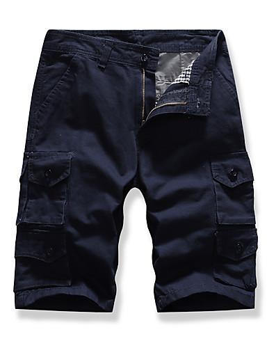 בגדי ריקוד גברים בסיסי שורטים מכנסיים - אחיד שחור אפור חאקי 34 36 38