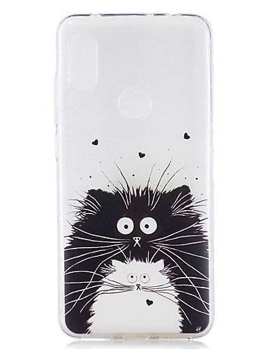 מארז עבור xiaomi mi 8 lite / redmi 6 פרו תבנית / כיסוי שחור שקוף שחור ולבן חתול רך tpu עבור redmi הערה 6 pro / redmi 6a / redmi 6 / redmi 5 / redmi 5 / redmi 5a