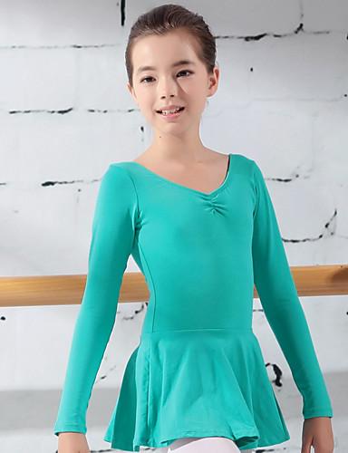 preiswerte Ballettbekleidung-Tanzkleidung für Kinder / Ballett Turnanzug Mädchen Training Baumwolle Rüschen / Wellenmuster Gymnastikanzug / Einteiler