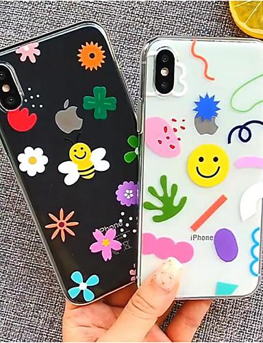 מארז iPhone / XS / iPhone xs מקסימום ברק זוהר / חיוך פנים / shockproof לכסות את השיש / מוצק צבע tpu קשה עבור iPhone xs / iPhone xs max