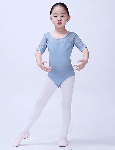 preiswerte Ballettbekleidung-Tanzkleidung für Kinder / Ballett Turnanzug Mädchen Training / Leistung Baumwollmischung / Elastisches Garn Spitze / Kombination Halbärmel Gymnastikanzug / Einteiler