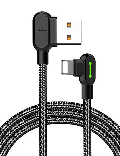 תאורה כבל 1.0m (3ft) קלוע / תשלום מהיר ניילון מתאם כבל USB עבור iPhone