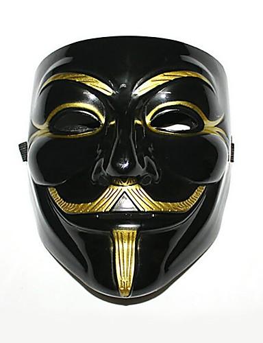 halpa Cosplay ja rooliasut-V for Vendetta Cosplay-Asut Naamio Naamiaisasu Aikuisten Miesten Halloween Joulu Joulu Halloween Karnevaali Festivaali / loma Muovit Musta Karnevaalipuvut Color Block