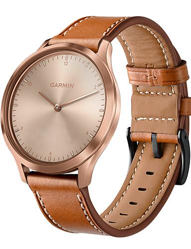להקת שעונים עבור garmin vivomove hr 20mm אמיתי צמיד עור שעונים