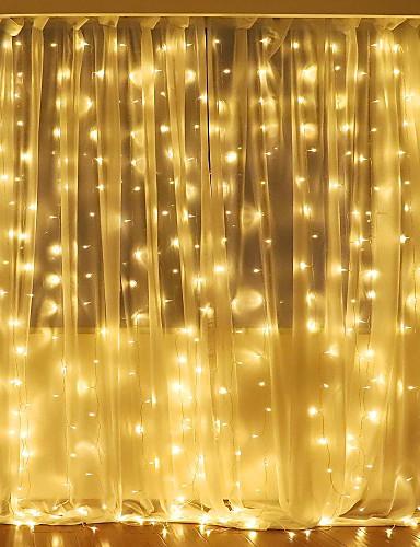 billige Holiday Decoration Light-3mx2m 240led hvit / varm hvit / flerfarget lys romantisk jul bryllup utendørs dekorasjon gardin streng lys