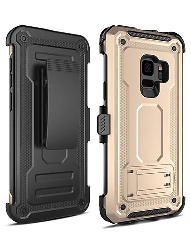 Pouzdro Uyumluluk Samsung Galaxy S9 Şoka Dayanıklı / Satandlı Arka Kapak Zırh PC