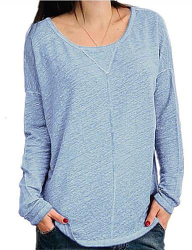 billige Dametopper-Løstsittende T-skjorte Dame - Ensfarget, Lapper Grunnleggende / Punk & Gotisk Lilla