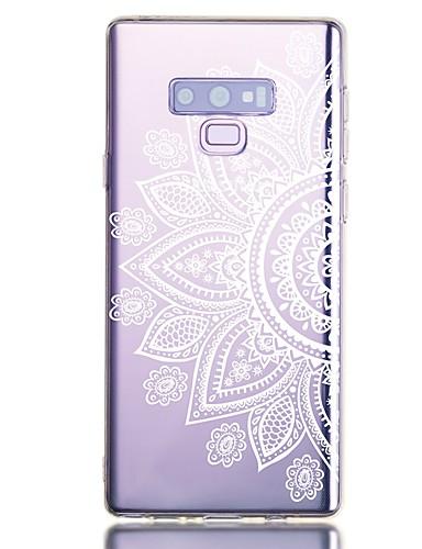 Pouzdro Uyumluluk Samsung Galaxy Note 9 Şoka Dayanıklı / Şeffaf / Temalı Arka Kapak Çiçek TPU