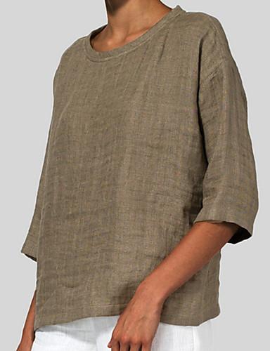 Kadın's Tişört Solid Mor