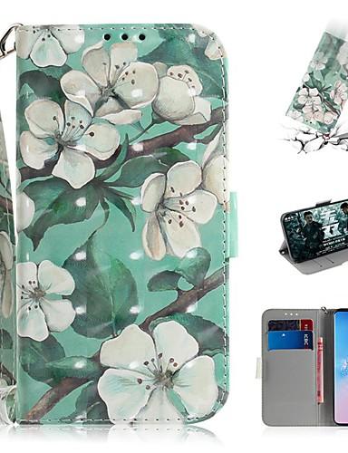 Samsung galaxy s9 / s9 artı / s8 artı cüzdan / kart sahibinin / darbeye dayanıklı tam vücut kılıfları için çiçek pu deri s10 / s10e / s10 artı / s9 artı / s7 / s7 kenar