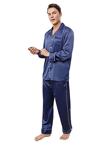 voordelige Herenondergoed & Zwemkleding-herenpakken nachtkleding blauw l xl xxl