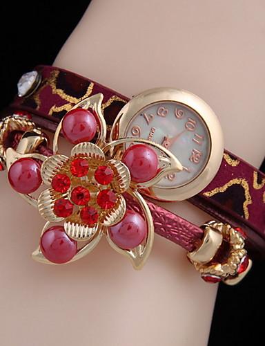 Kadın's Elbise Saat Quartz Deri Gündelik Saatler Analog Klasik - Fuşya