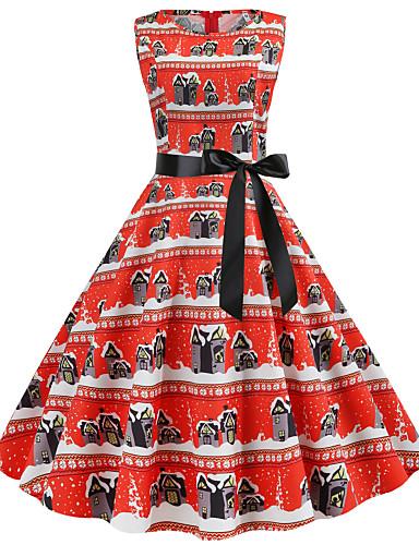 Kadın's Vintage Sokak Şıklığı Şifon Elbise - Çiçekli, Desen Midi Kelebek