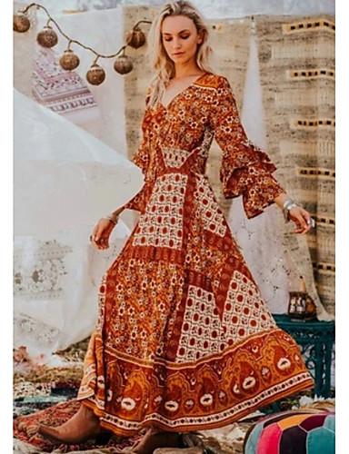 Kadın's Kılıf Elbise - Kabile Maksi