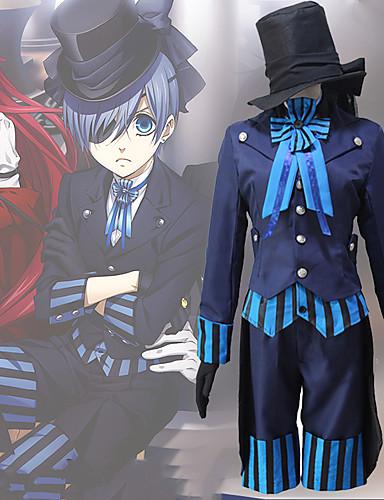 povoljno Anime kostimi-Inspirirana Crna Butler Ciel Phantomhive Anime Cosplay nošnje Japanski Cosplay Suits Suvremeno Kravata / Kaput / Bluza Za Muškarci / Žene / Top / Rukavice