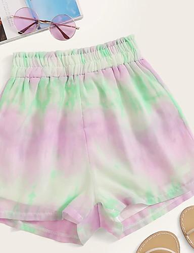billige Tights til damer-Dame Grunnleggende Shorts Bukser - Multi-farge Regnbue En Størrelse
