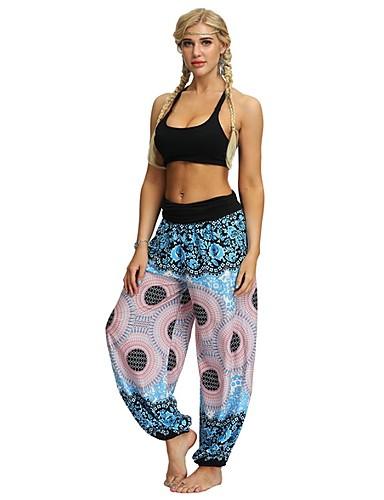 povoljno Ženske hlače-Žene Osnovni Harem hlače Hlače - Print Plava Crn M L XL