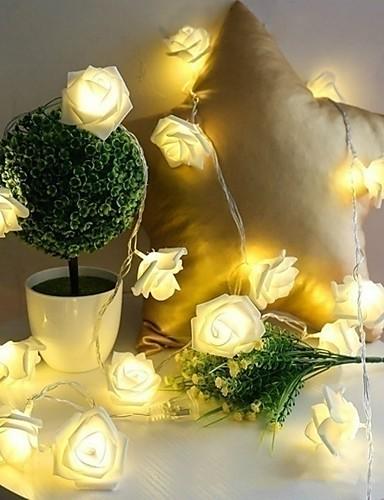 billige Holiday Decoration Light-10 led rose jul dekorasjon snor lys simulering led lys post lantern belysning fe lysene hjem blomsterfest