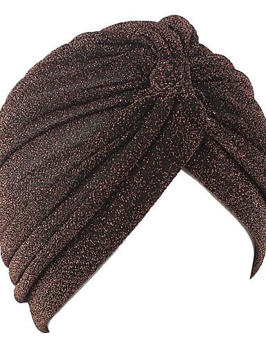 abordables Accessoires Femme-Femme Polyester Basique Capeline Couleur Pleine Noir Argent Violet