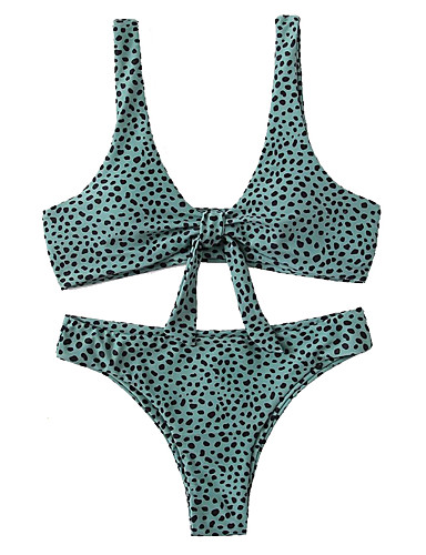 voordelige Nieuwe collectie-Dames Wit blauw Rood Tankini Zwemkleding - Geometrisch S M L Wit
