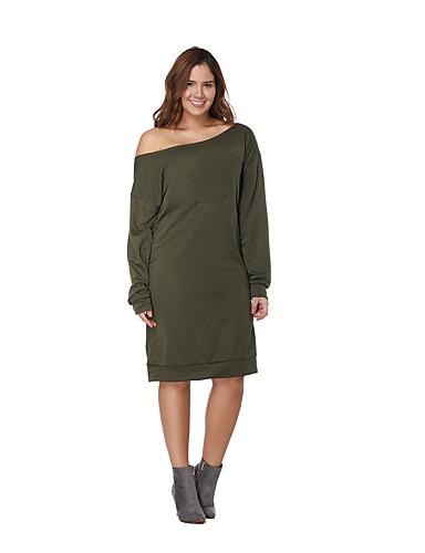 voordelige Grote maten jurken-Dames Street chic T Shirt Jurk Tot de knie