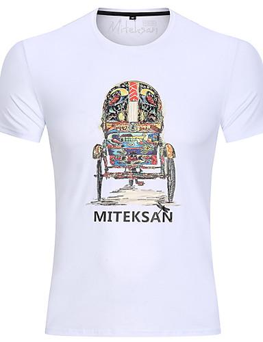 voordelige Herenbovenkleding-Heren Standaard Print T-shirt Doodskoppen Zwart