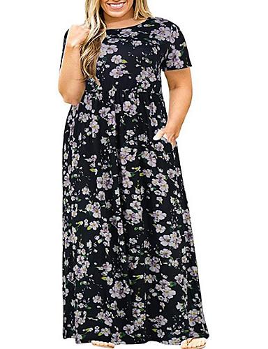 Kadın's Boho Çan Elbise - Çiçekli, Desen Maksi
