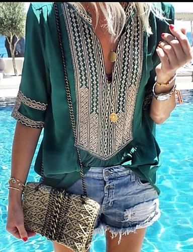 billige Dametopper-Skjorte Dame - Grafisk Grunnleggende Rosa