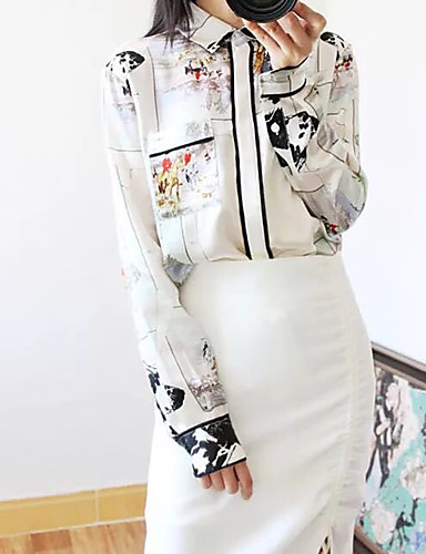 billige Dametopper-Skjorte Dame - Dyr, Lapper Gatemote Beige