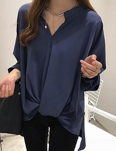 billige Topper til damer-Skjorte Dame - Ensfarget Hvit