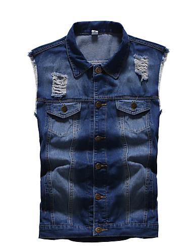 voordelige Heren T-shirts & tanktops-Heren Singlet Effen blauw