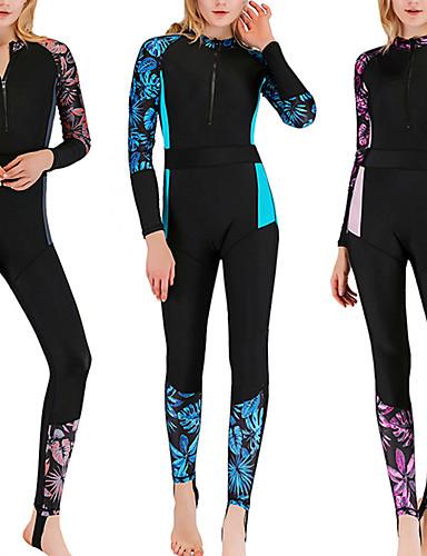 baratos Roupas de Mergulho & Camisas de Proteção-SBART Mulheres Segunda-pele para Mergulho Roupas de Mergulho Respirável Secagem Rápida Corpo Inteiro Zíper Frontal - Natação Surfe Snorkeling Retalhos Outono Primavera Verão / Micro-Elástica