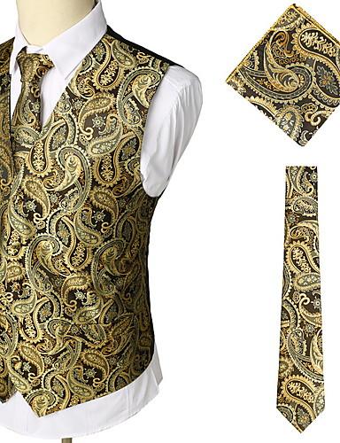 hesapli Yelekler-Polyester Düğün Yelekler Desen / 3D