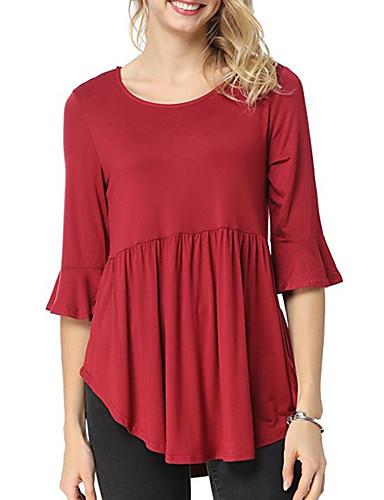 billige Dametopper-T-skjorte Dame - Ensfarget Gatemote Svart