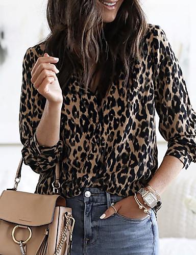 povoljno Majica-Majica Žene - Osnovni Vikend Leopard Kolaž Deva